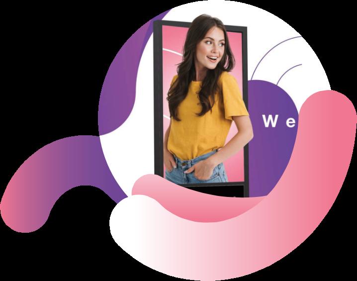 شبكة أدزيلي تساعدك على الوصول إلى الاف من الجمهور المستهدف خارج المنزل من خلال شاشتنا الرقمية.
